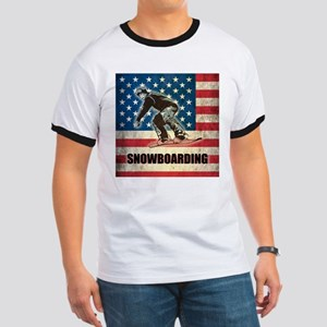 Grunge USA Snowboarding Ringer T