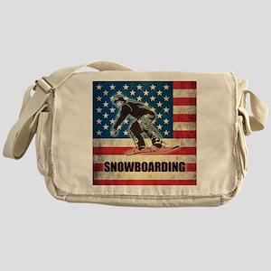 Grunge USA Snowboarding Messenger Bag