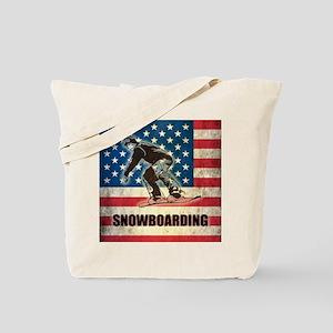 Grunge USA Snowboarding Tote Bag