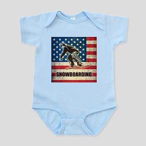 Grunge USA Snowboarding Infant Bodysuit