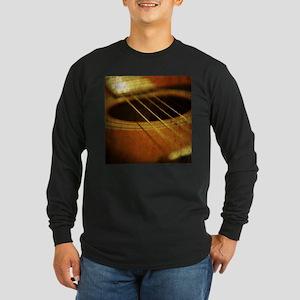 Vintage Guitar Long Sleeve Dark T-Shirt