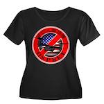 OSPREY2 Women's Plus Size Scoop Neck Dark T-Shirt