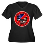 OSPREY2 Women's Plus Size V-Neck Dark T-Shirt