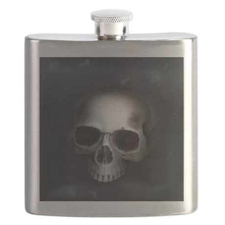 Real Goth Skull Flask