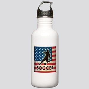 Grunge USA Soccer Stainless Water Bottle 1.0L