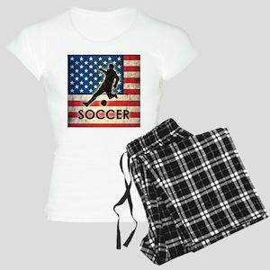 Grunge USA Soccer Women's Light Pajamas