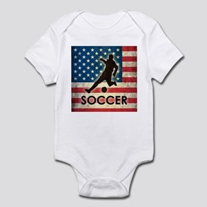 Grunge USA Soccer Infant Bodysuit