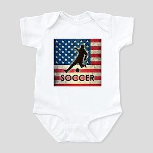Grunge USA Soccer Infant Bodysuit