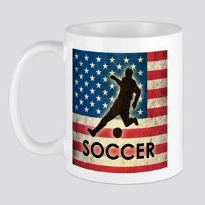 Grunge USA Soccer Mug