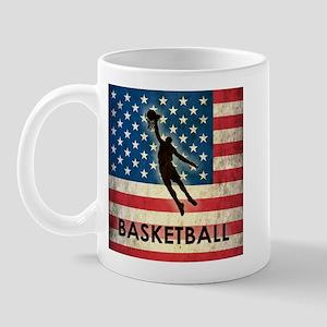 Grunge USA Basketball Mug