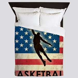 Grunge USA Basketball Queen Duvet