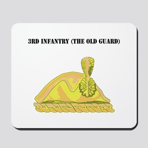 3rd Infantry (The Old Guard) with Text Mousepad