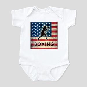 Grunge USA Boxing Infant Bodysuit