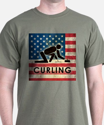 Grunge USA Curling T-Shirt