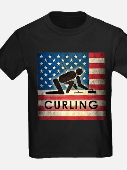 Grunge USA Curling T
