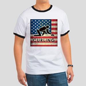 Grunge USA Curling Ringer T