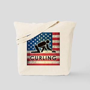Grunge USA Curling Tote Bag