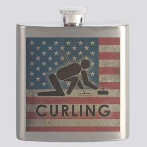 Grunge USA Curling Flask