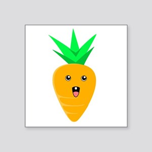 "Baby Carrot Square Sticker 3"" x 3"""