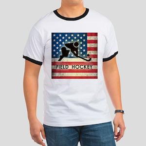 Grunge USA Field Hockey Ringer T