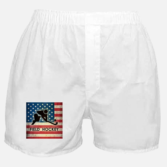 Grunge USA Field Hockey Boxer Shorts
