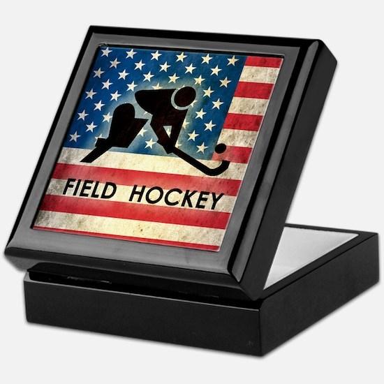 Grunge USA Field Hockey Keepsake Box