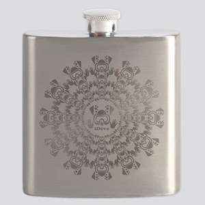 iDiver Silver and Black Flask