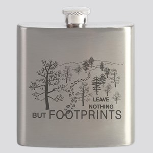 3-just footprints grn Flask