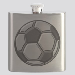 soccer art bevel 1 Flask