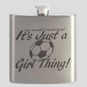 Soccer Girl Thing Flask