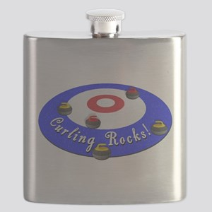 Curling Rocks WC Flask