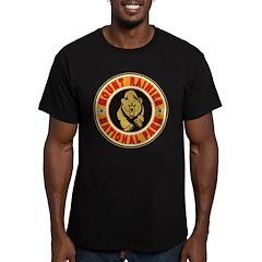 Mt Rainier Gold Circle Men's Fitted T-Shirt (dark)
