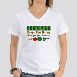Gardening Cheaper Than Therapy Women's V-Neck T-Sh