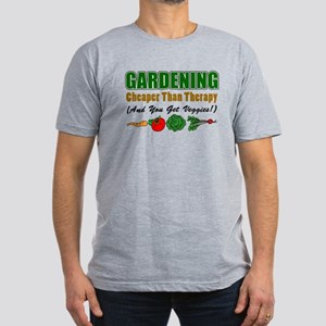 Gardening Cheaper Than Therapy Men's Fitted T-Shir