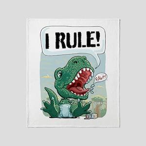 Personalizable T-Rex Throw Blanket