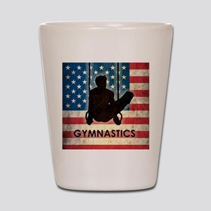 Grunge USA Gymnastics Shot Glass