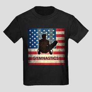 Grunge USA Gymnastics Kids Dark T-Shirt