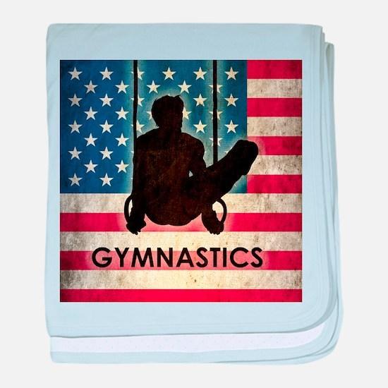 Grunge USA Gymnastics baby blanket