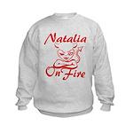 Natalia On Fire Kids Sweatshirt