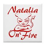 Natalia On Fire Tile Coaster