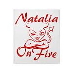 Natalia On Fire Throw Blanket