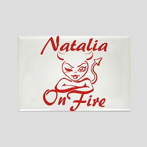 Natalia On Fire Rectangle Magnet