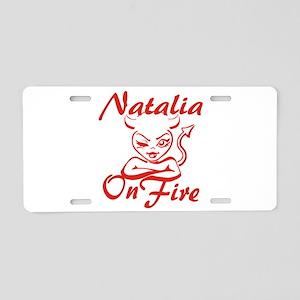 Natalia On Fire Aluminum License Plate