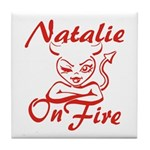 Natalie On Fire Tile Coaster