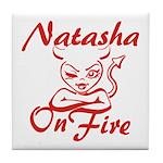 Natasha On Fire Tile Coaster