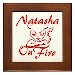 Natasha On Fire Framed Tile