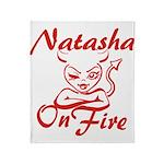Natasha On Fire Throw Blanket