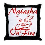 Natasha On Fire Throw Pillow