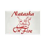Natasha On Fire Rectangle Magnet