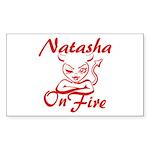 Natasha On Fire Sticker (Rectangle)